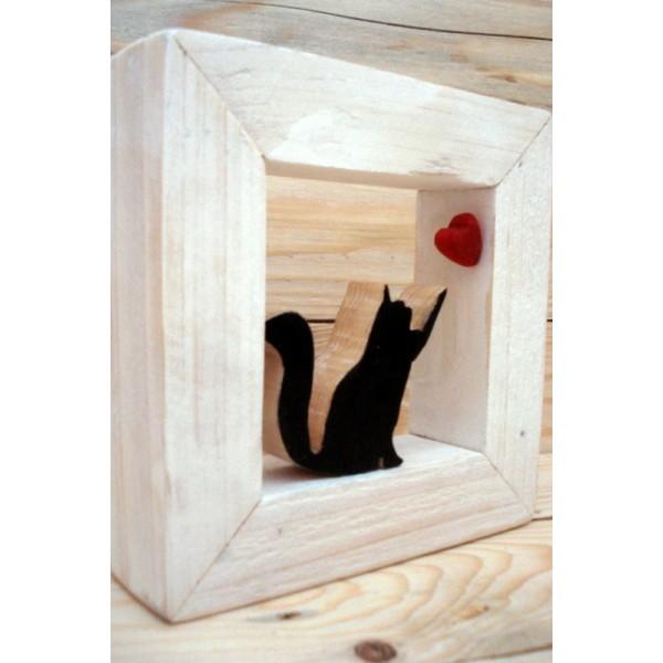 Gatto in cornice